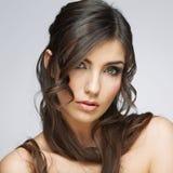 hairball tła karcianej twarzy powitania strony szablonu ogólnoludzka sieci kobieta zbliżenia twarzy portreta kobieta Fotografia Royalty Free