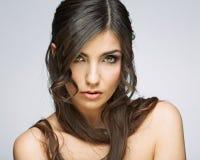 hairball tła karcianej twarzy powitania strony szablonu ogólnoludzka sieci kobieta zbliżenia twarzy portreta kobieta Zdjęcie Royalty Free