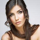 hairball tła karcianej twarzy powitania strony szablonu ogólnoludzka sieci kobieta zbliżenia twarzy portreta kobieta Zdjęcia Stock