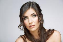 hairball tła karcianej twarzy powitania strony szablonu ogólnoludzka sieci kobieta zbliżenia twarzy portreta kobieta Zdjęcie Stock