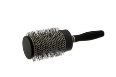 Hairbrush. Isolated on the white background stock images