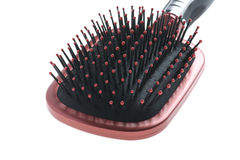Hairbrush close up Stock Images
