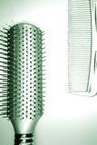 hairbrush and comb Stock Photography