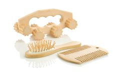 Hairbrush comb and massager Royalty Free Stock Photos