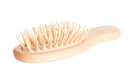 Hairbrush de madeira Fotos de Stock