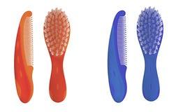 Hairbrush dei bambini illustrazione di stock