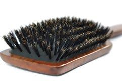 Hairbrush di legno Immagine Stock Libera da Diritti