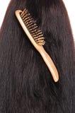 Hairbrush di legno Fotografia Stock Libera da Diritti