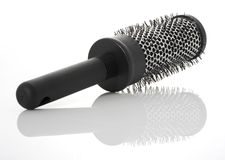 Hairbrush do metal Imagens de Stock Royalty Free