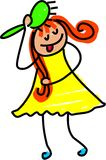 Hairbrush girl Stock Photos