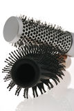 Hairbrush with reflection Stock Photos