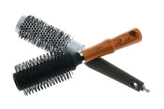 Hairbrush two. Hairbrush. The device isolated on a white background for combing Stock Photos