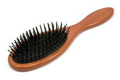 Hairbrush with wooden handle Stock Image
