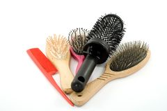hairbrushes Zdjęcia Stock
