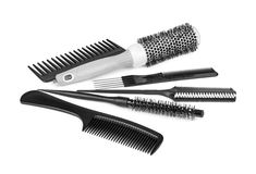 Hairbrushes isolated on a white background. Hairbrushes isolated on  white background Stock Images