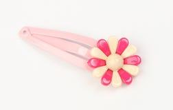 Hairclip cor-de-rosa Fotos de Stock Royalty Free