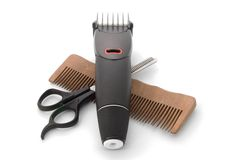 Hairclipper and clipper Stock Photos