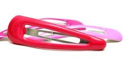Hairclips di plastica Fotografia Stock