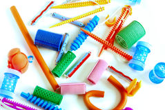 Haircurlers stock photo