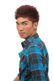 Haircut. Asian man with beautiful haircut style Stock Photography