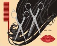 haircut ilustração stock