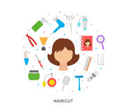 Haircut art Royalty Free Stock Images