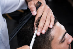 Haircut in beauty salon Royalty Free Stock Images