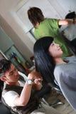 Haircut hairsyle Stock Image