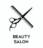 Haircut icons with scissors. Royalty Free Stock Image