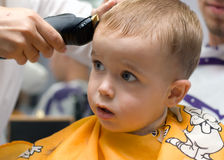 Haircut little boy Royalty Free Stock Images