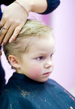 Haircut of little kid Royalty Free Stock Images