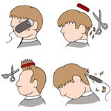 Haircut Process Stock Images