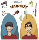 A haircut set Royalty Free Stock Photos
