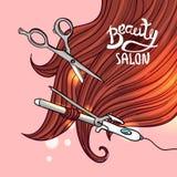 Haircut vector illustration Royalty Free Stock Photography