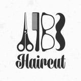 Haircut vector logo Stock Photos