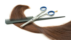 Haircutting instruments Royalty Free Stock Photos