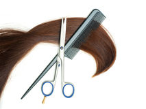 Haircutting tools Royalty Free Stock Photos