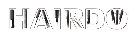 hairdo έννοιας διανυσματική απεικόνιση
