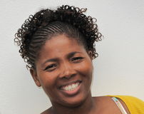 Hairdo africano Fotografie Stock Libere da Diritti
