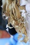 Hairdo de la novia Imagenes de archivo