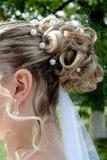 Hairdo della sposa Immagine Stock