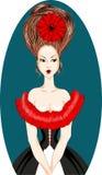 Hairdo elevado Foto de Stock Royalty Free
