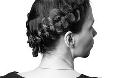 Hairdo with plaits Royalty Free Stock Photos