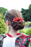 Hairdo for a traditional Russian costume Stock Images