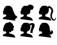 Hairdo. Vector silhouettes of hairdo on a white background vector illustration