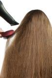 hairdress волос девушки длиной штабелируют к Стоковые Изображения