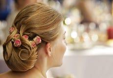 Hairdress di cerimonia nuziale Fotografie Stock