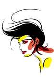 Hairdress fêmeas ilustração stock