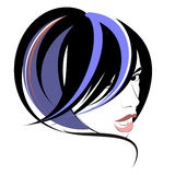Hairdress girl. Art of a hairdress. Haute couture in vector figure stock illustration