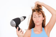 Hairdress haircare hairdry Royalty Free Stock Images